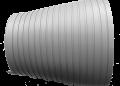PVC lokanā caurule ar maināmu diametru