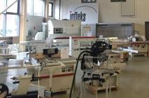 Kokapstrādes iekārtas INFLEKS tirdzniecības zālē